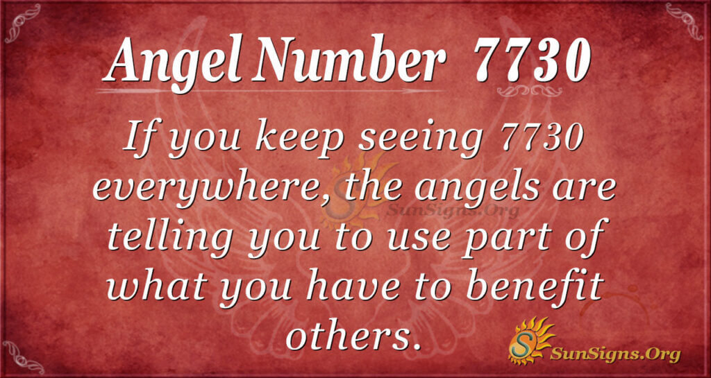 7730 angel number
