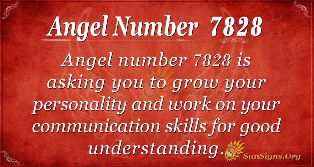Angel number 7828