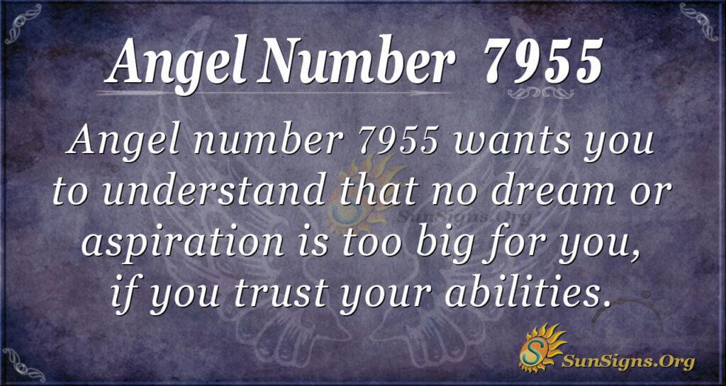 Angel number 7955