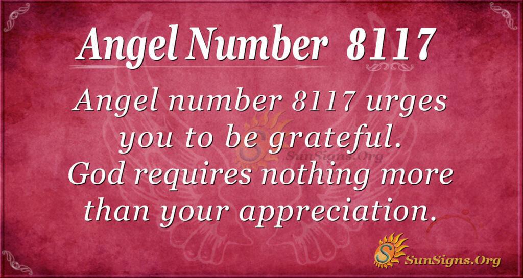 Angel Number 8117