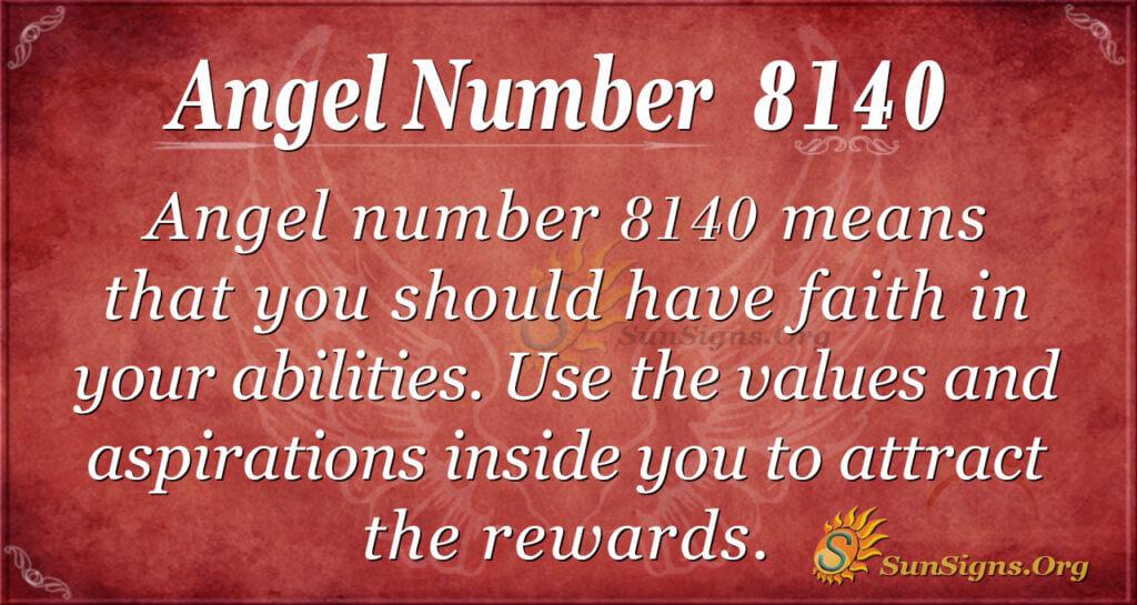 Angel number 8140