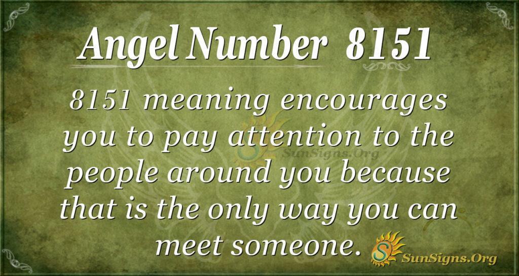 Angel number 8151