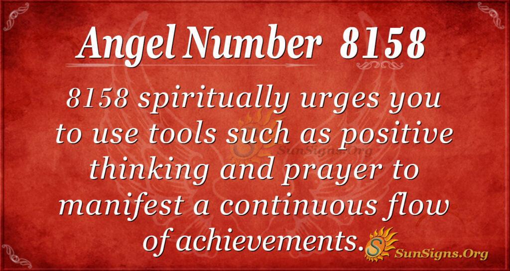 Angel Number 8158