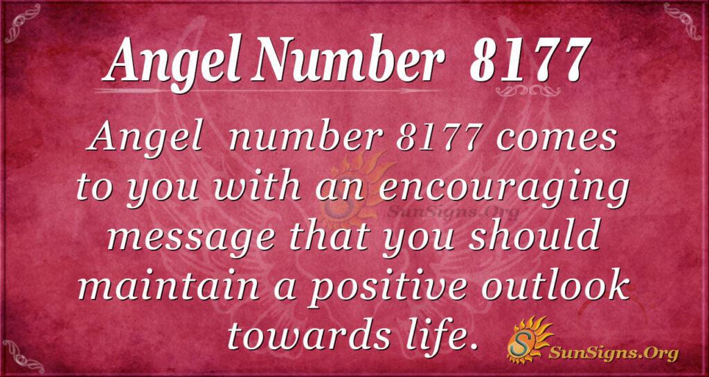 Angel number 8177