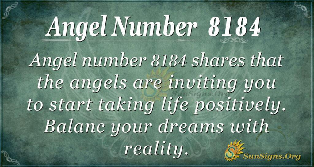 Angel number 8184