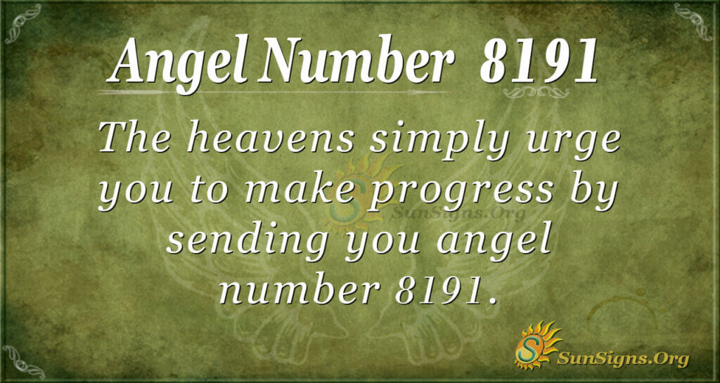 Angel Number 8191