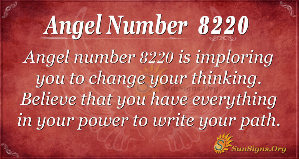 Angel number 8220
