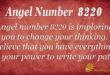 Angel number 8220