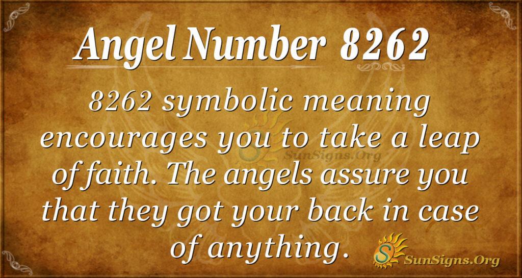 Angel Number 8262