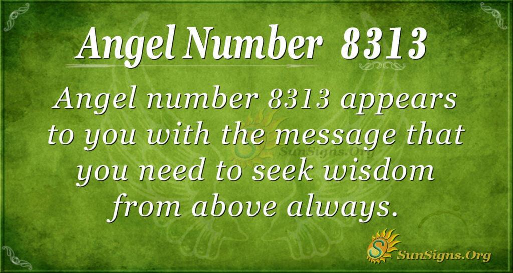 Angel Number 8313