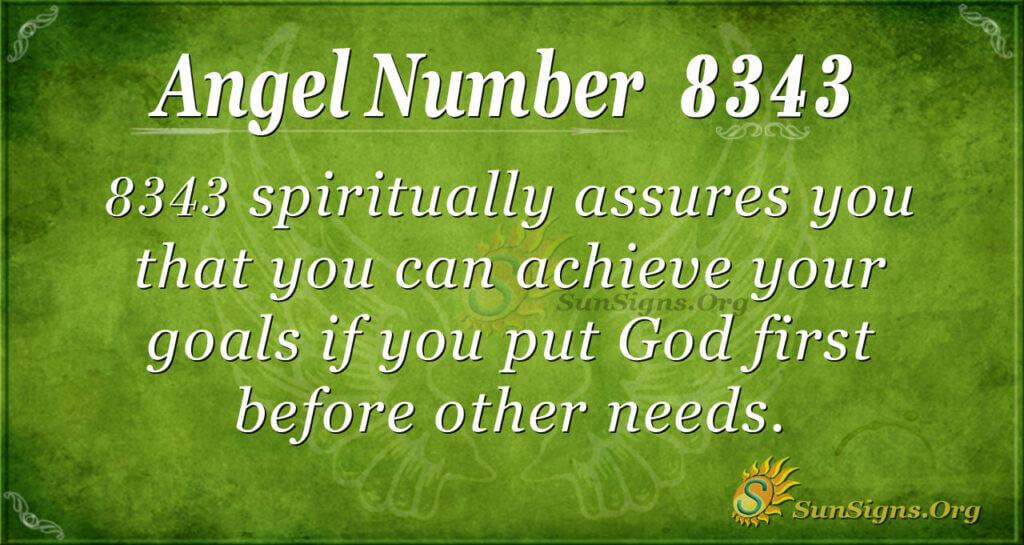 Angel Number 8343
