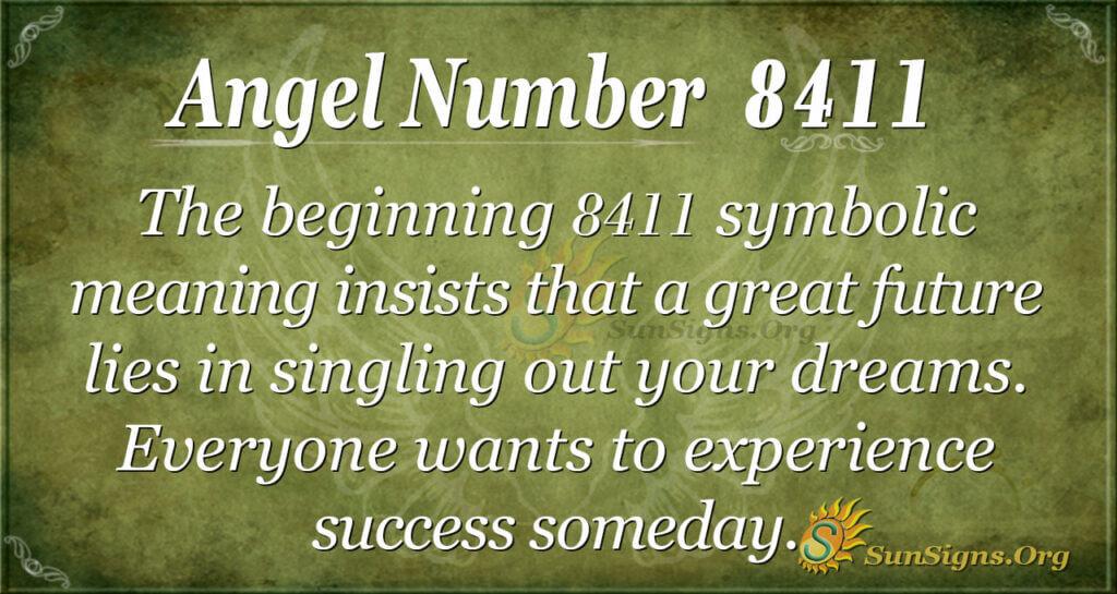 Angel Number 8411