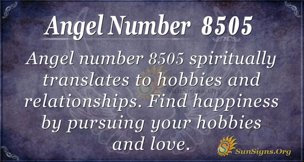Angel number 8505