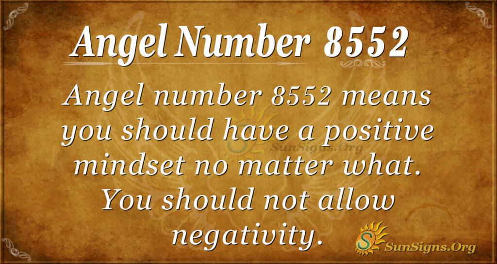 Angel number 8552