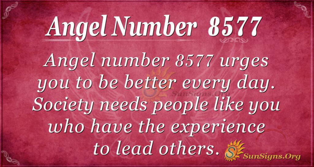 Angel number 8577