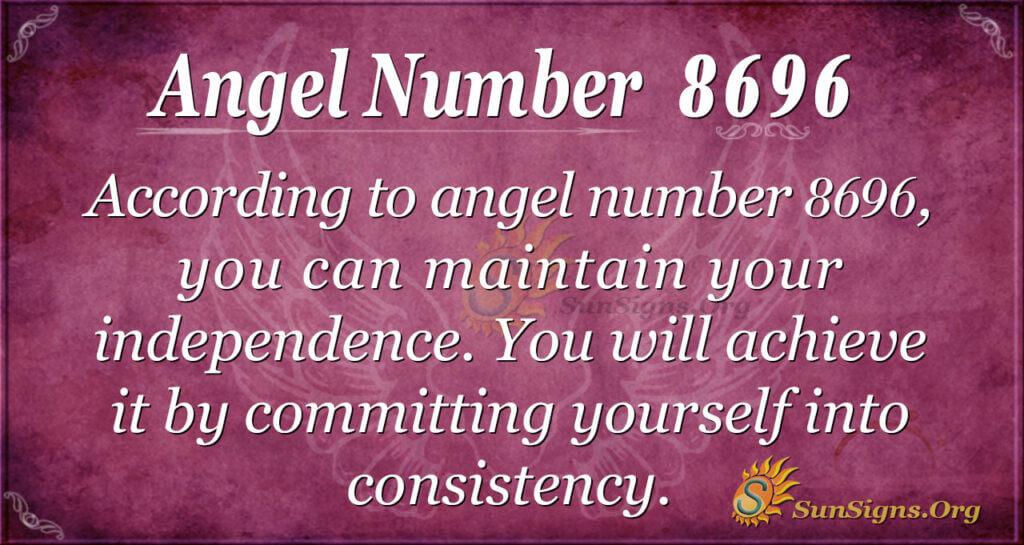 Angel number 8696