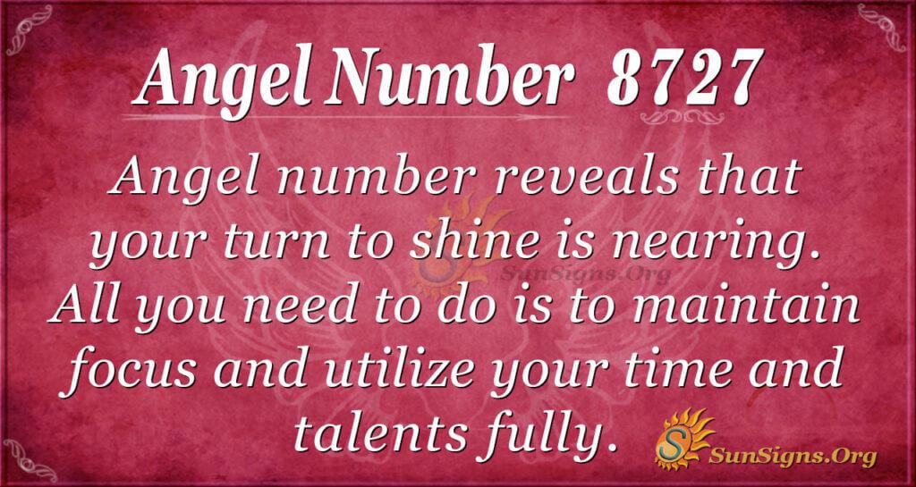Angel number 8727