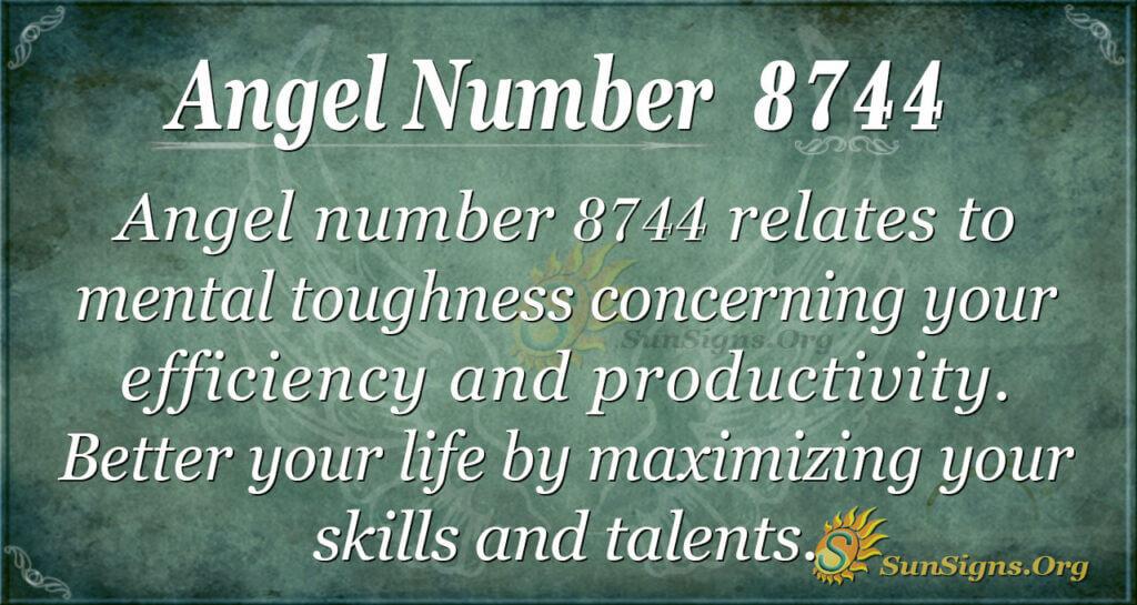 Angel number 8744