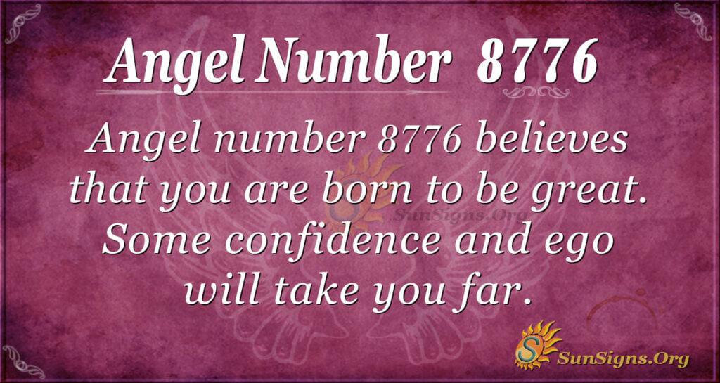 Angel number 8776