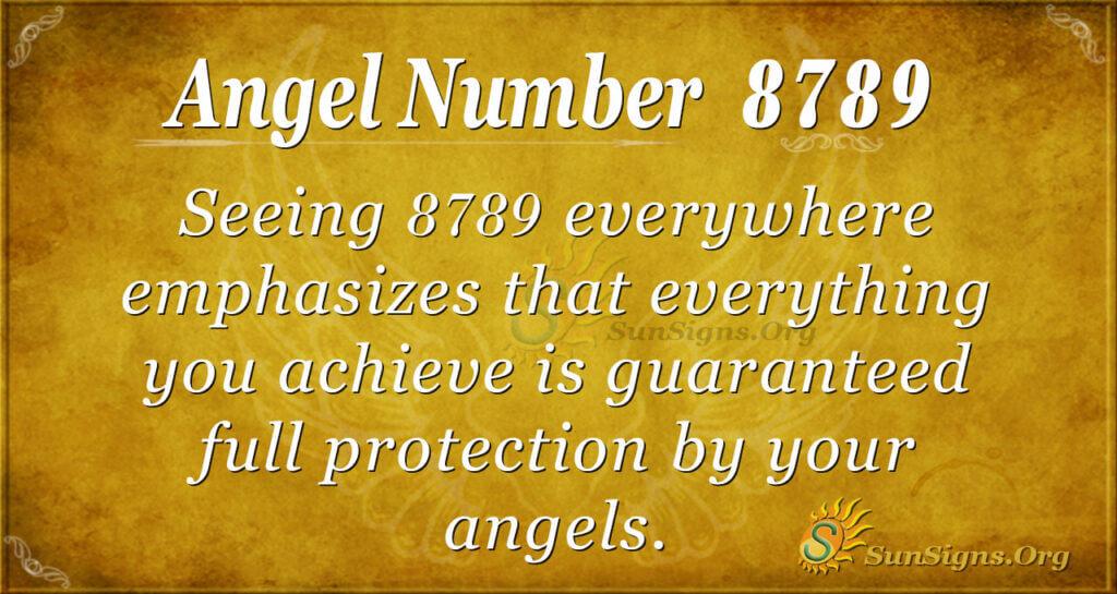 Angel Number 8789