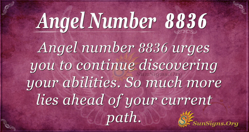 Angel number 8836