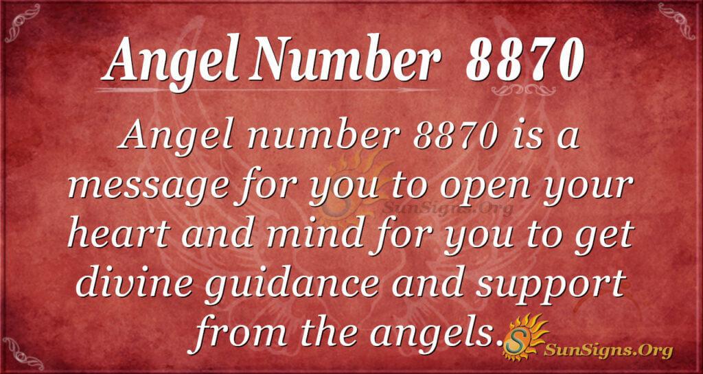 angel number 8870