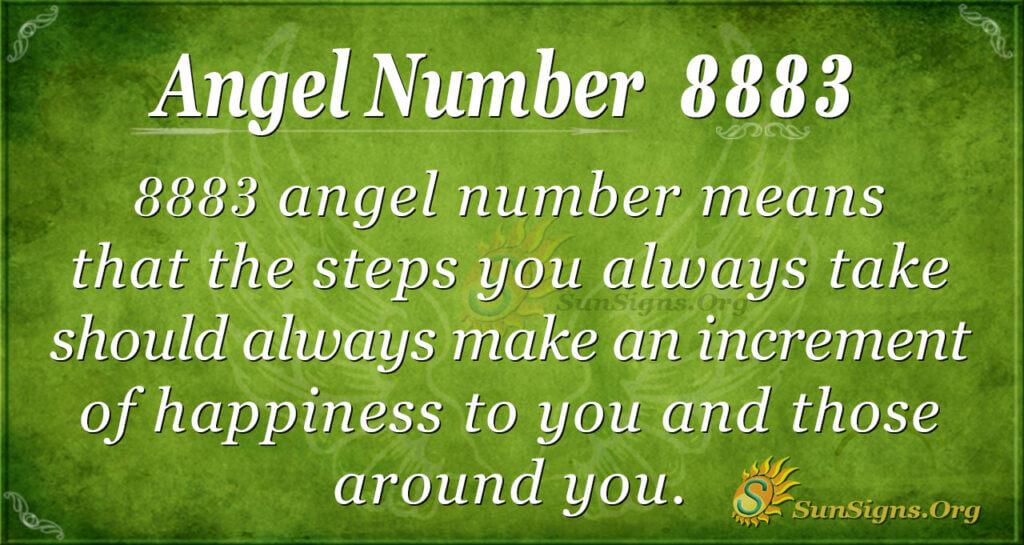 Angel number 8883