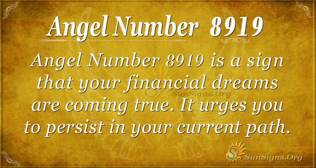 Angel number 8919