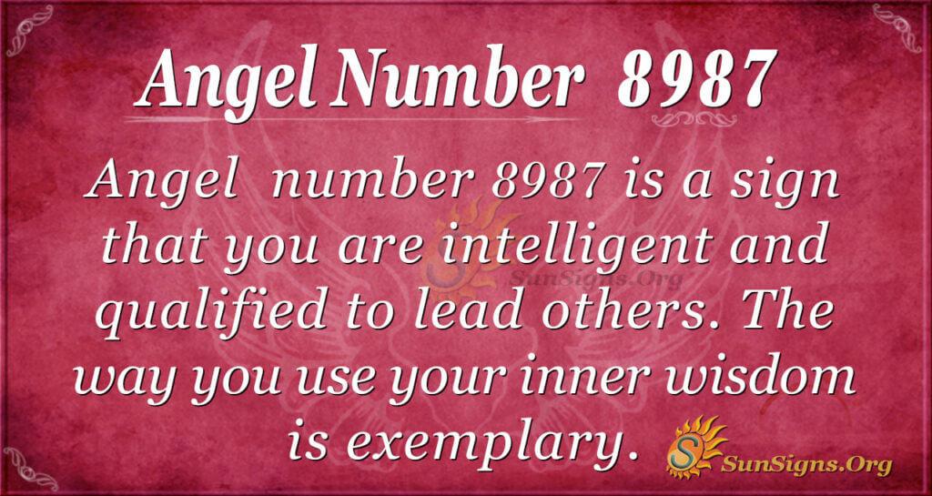 Angel number 8987