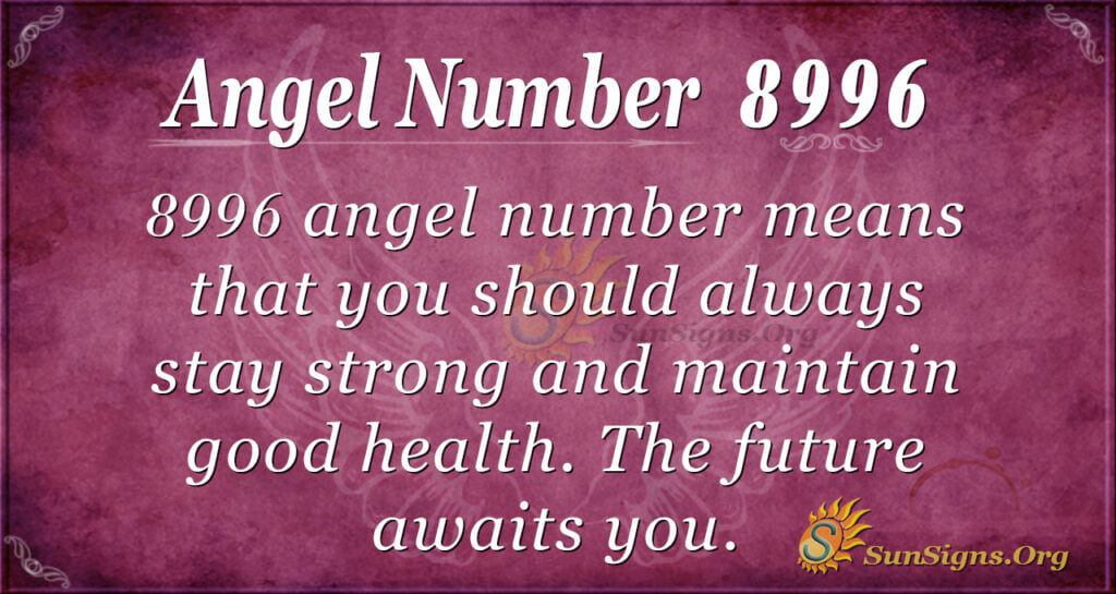 Angel number 8996
