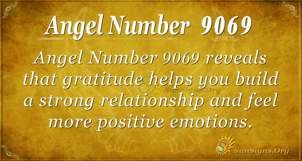 Angel number 9069