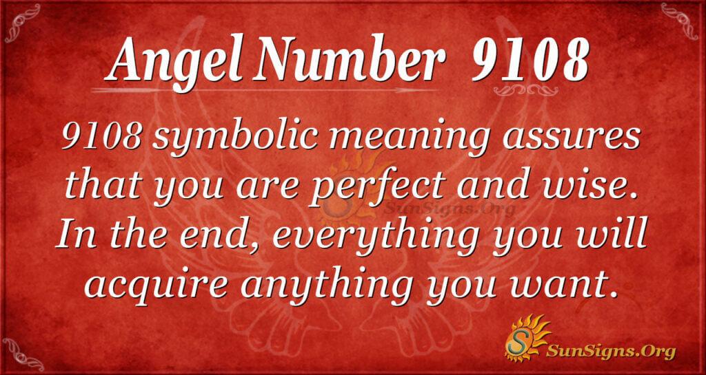 Angel number 9108