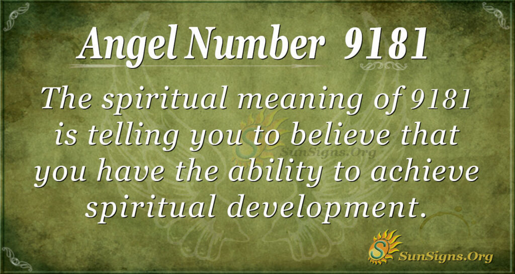 9181 angel number