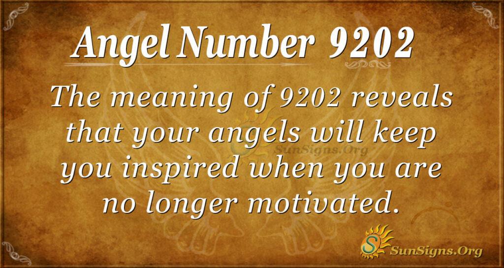 Angel number 9202