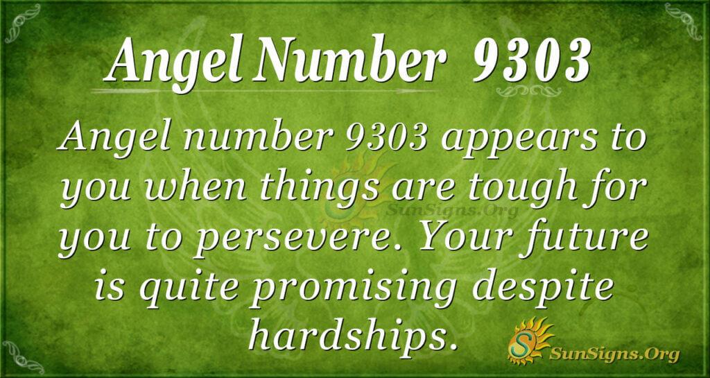 Angel number 9303