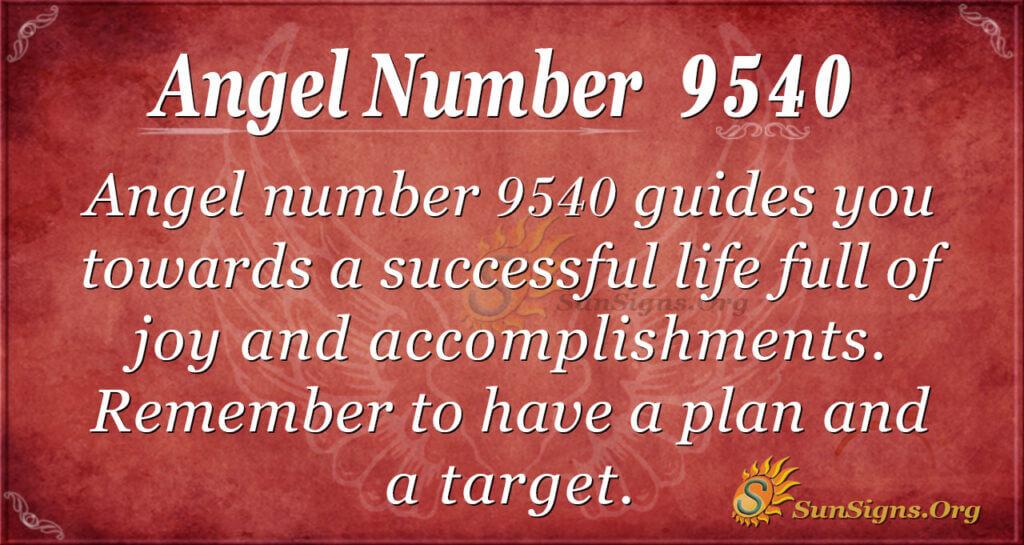 9540 angel number