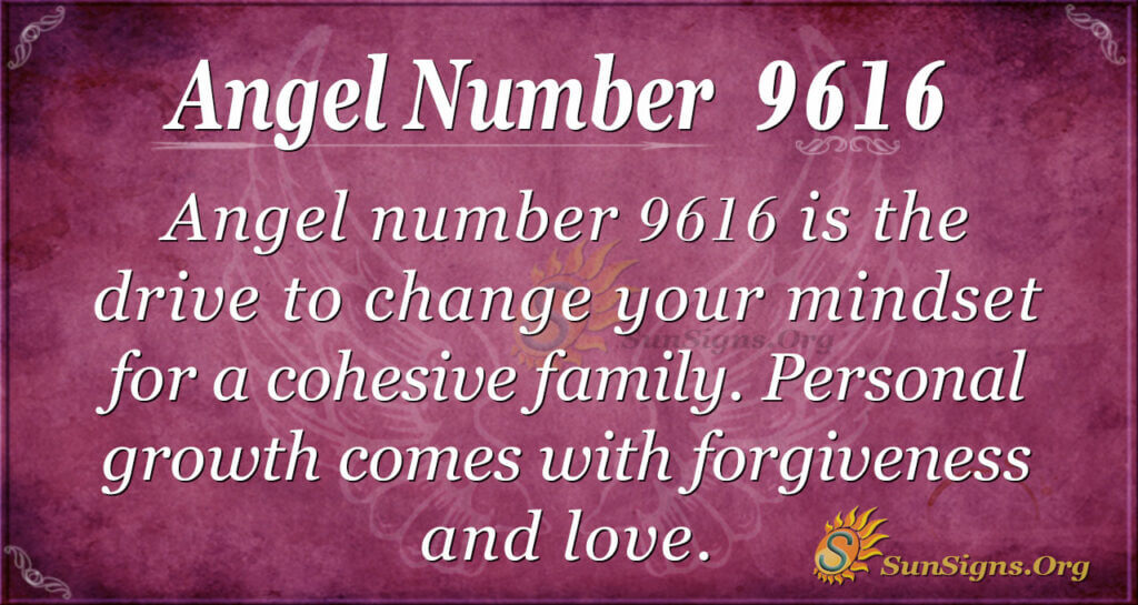 Angel number 9616