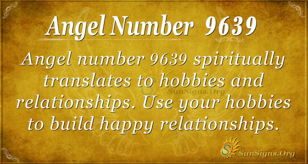 Angel number 9639