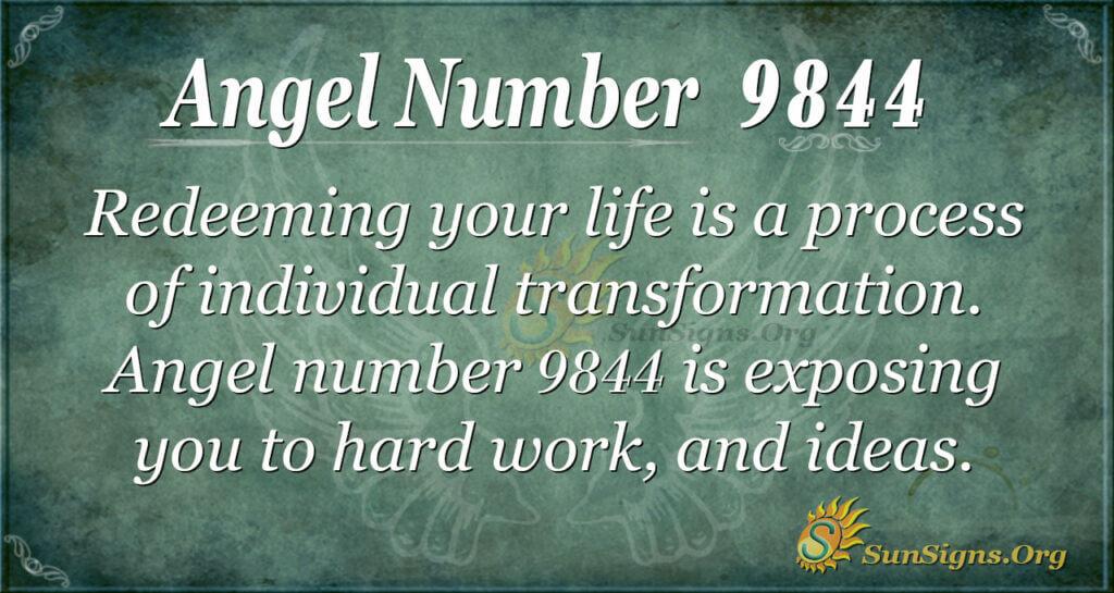 Angel number 9844