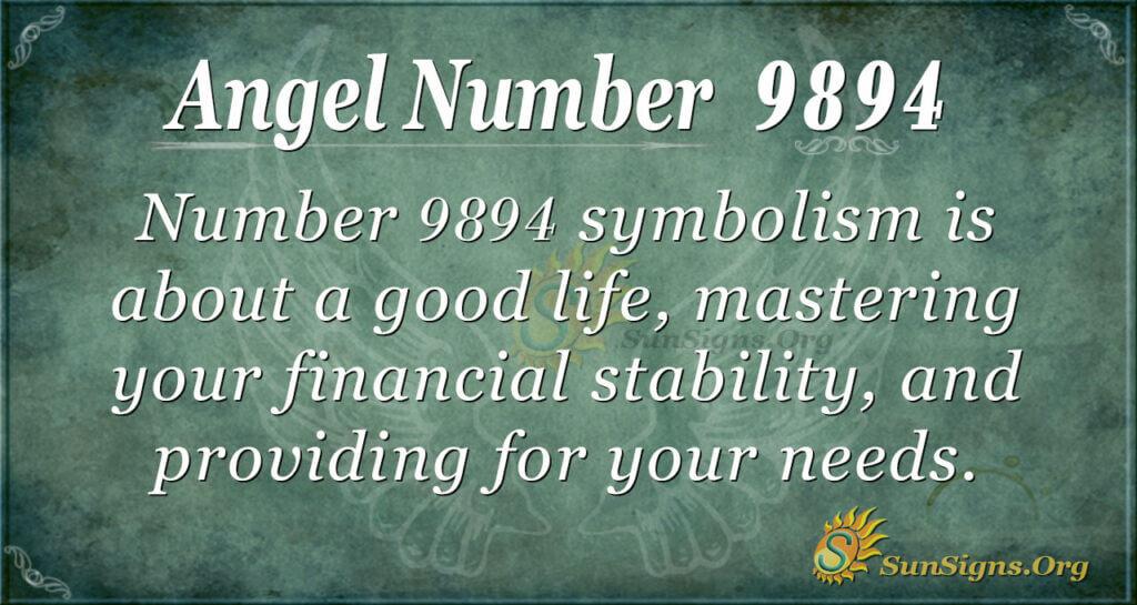 Angel number 9894