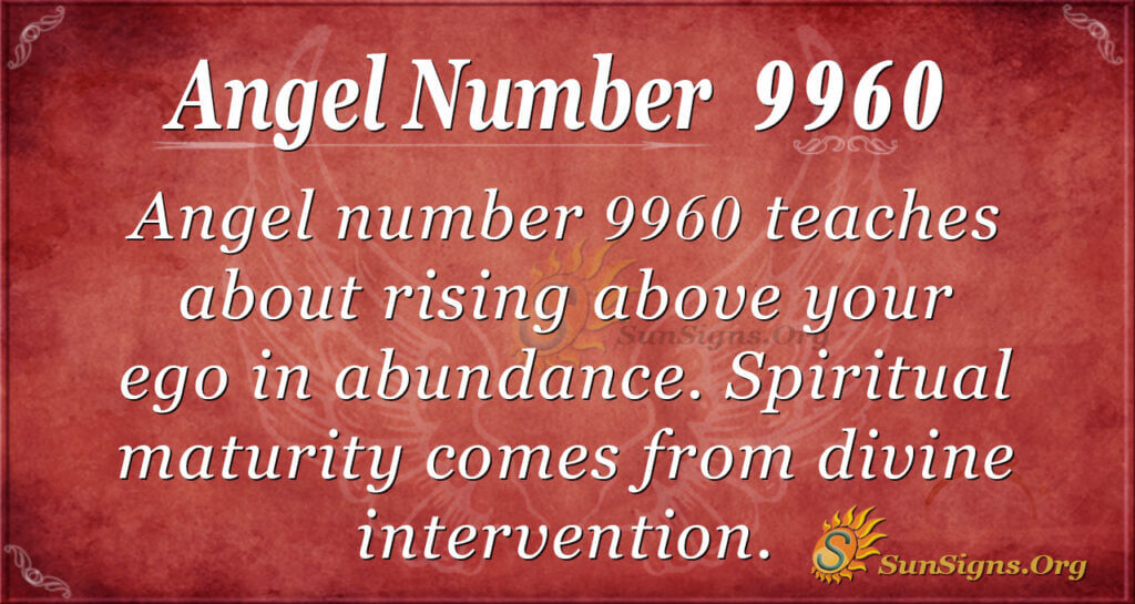 Angel Number 9960