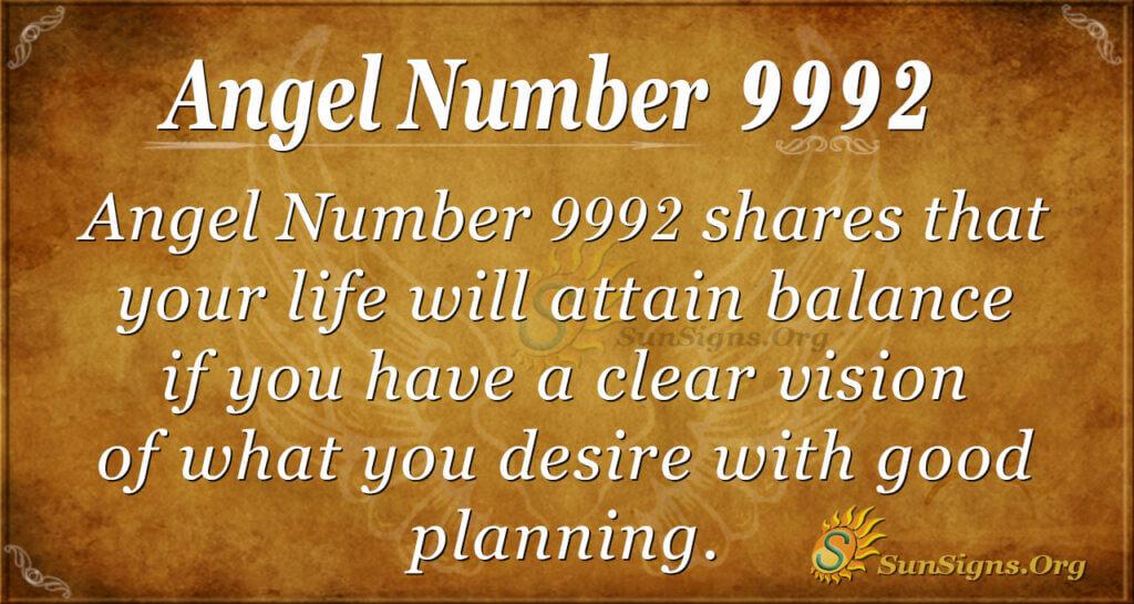 9992 angel number