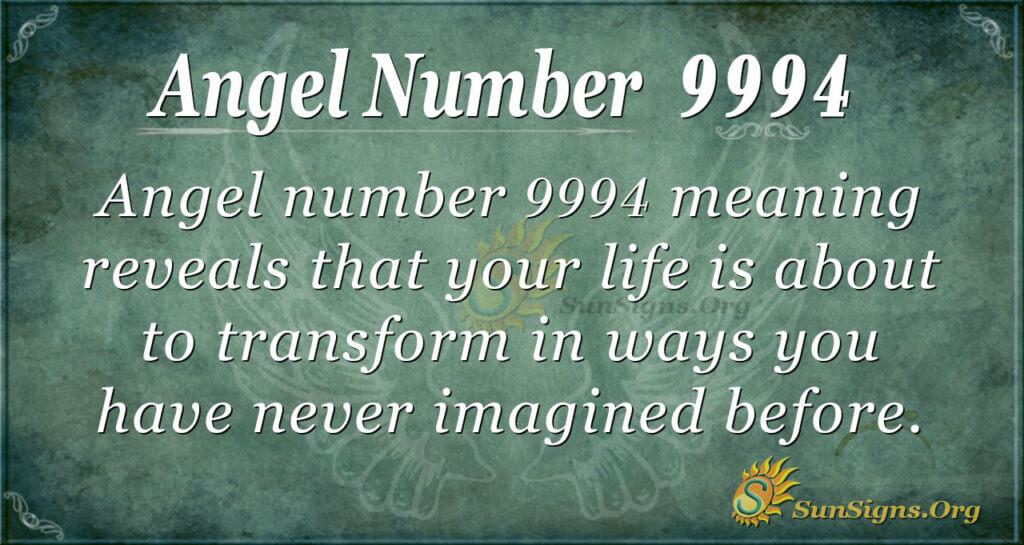 Angel number 9994