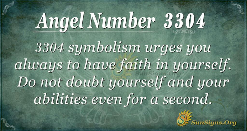 Angel Number 3304