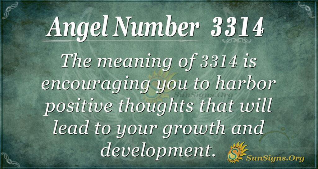 Angel Number 3314