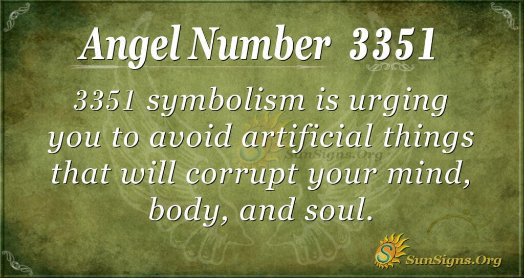 Angel Number 3351