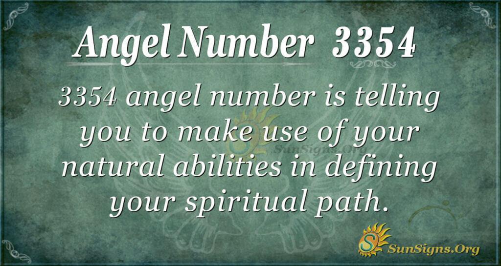 Angel Number 3354