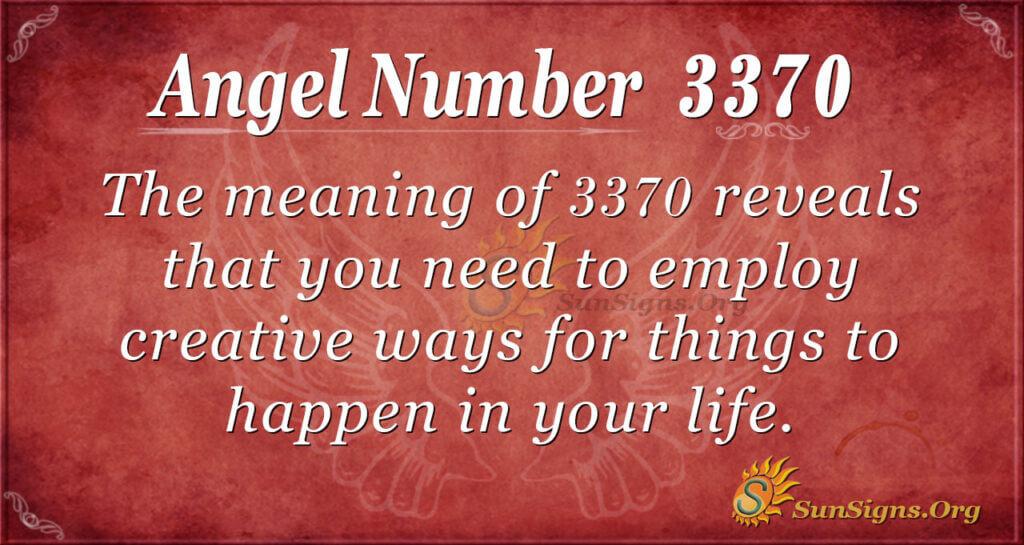 Angel Number 3370