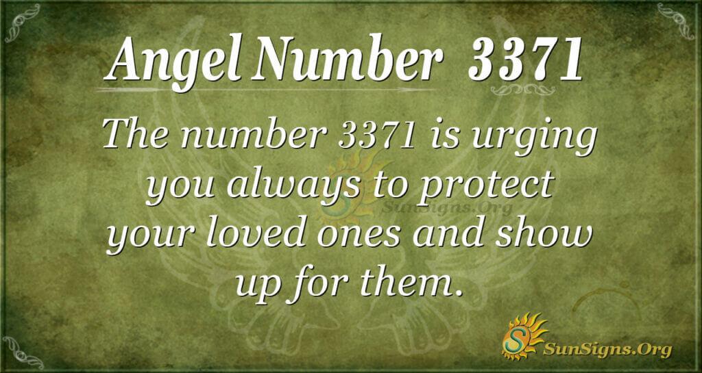 Angel Number 3371