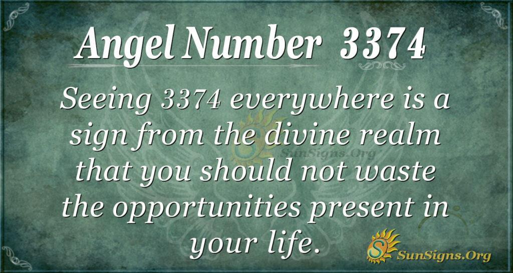 Angel Number 3374